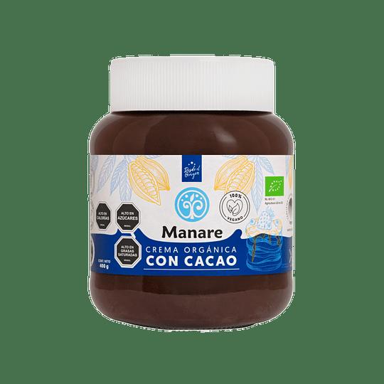 Crema orgánica vegana con cacao 400g
