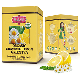 Té verde con Manzanilla y Limón Brew lala Tea, 75gr, 50 bolsitas