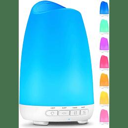 Difusor de aceites esenciales 8 Colores LED (150ml / 5.1 fl oz) - Voksadi
