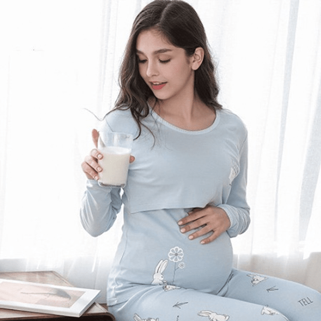 Pijama Amparito  de Embarazo y Lactancia