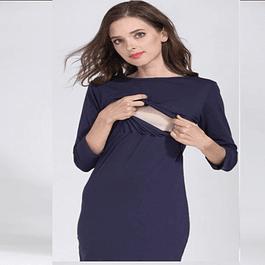 Vestido Lactancia y Embarazo Mariana Blue