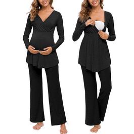 Pijama Amalia  Black  Lactancia & Embarazo