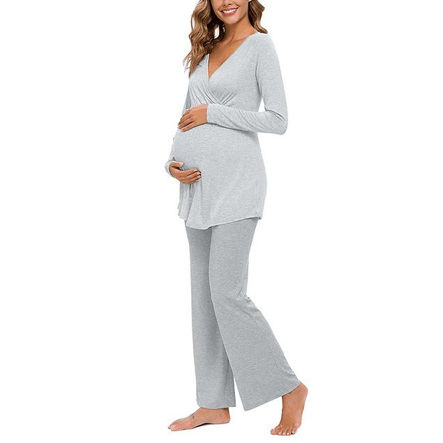 Pijama Amalia  Gris  Lactancia & Embarazo