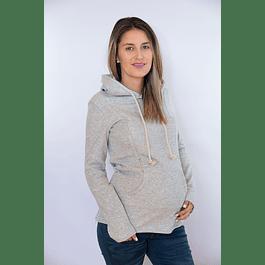 Polerón Sophia Gris Claro Embarazo & Lactancia
