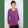 Polera Embarazo  Lactancia Isidora Purple