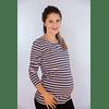 Polera de Lactancia y Embarazo Olivia Blue