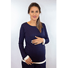 Pijama Navy Embarazo y Lactancia