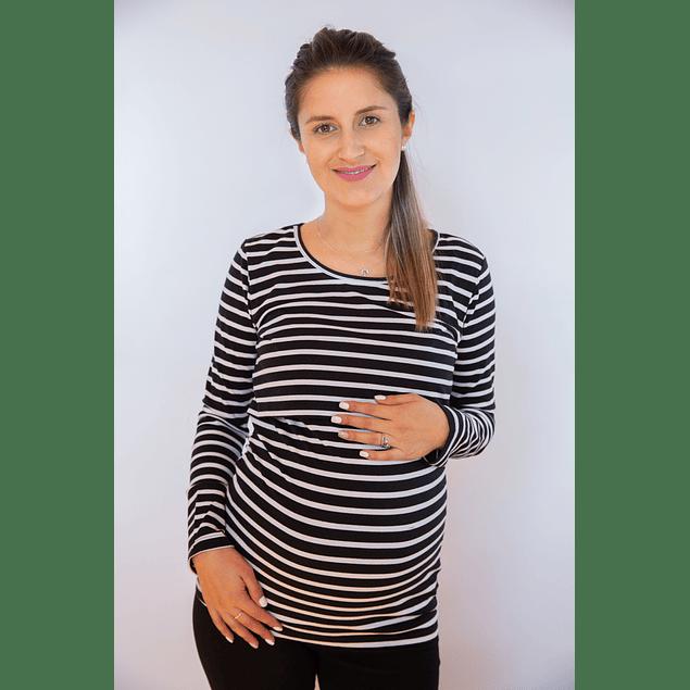 Polera Emma Embarazo y Lactancia Black