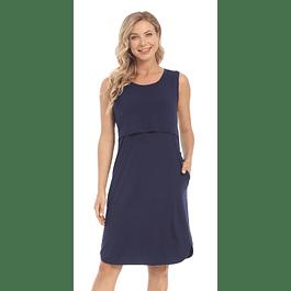 Vestido Victoria  Navy Blue Embarazo & Lactancia