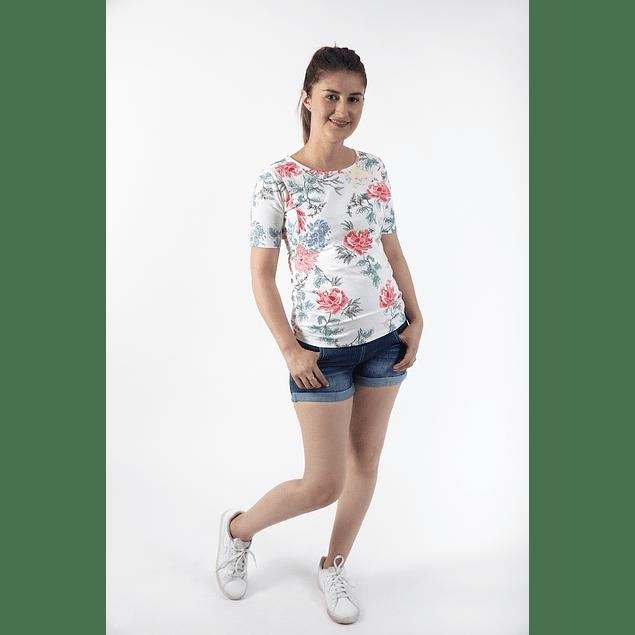 Polera Embarazo & Lactancia Natalia Flora