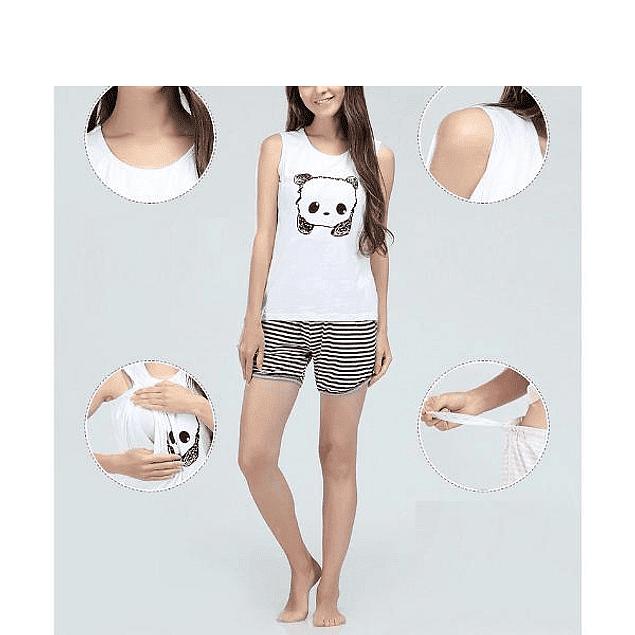 Pijama de Lactancia & Embarazo  Panda