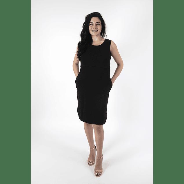 Vestido Victoria Negro Embarazo & Lactancia