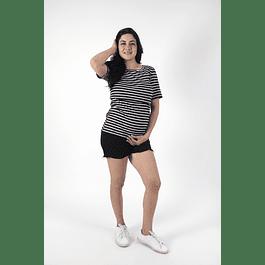 Polera Cathy Embarazo & Lactancia Black