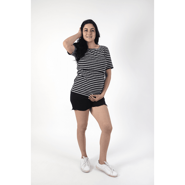 Polera Cathy Embarazo & Lactancia Black