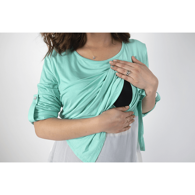 Polera Sol Verde Embarazo & Lactancia