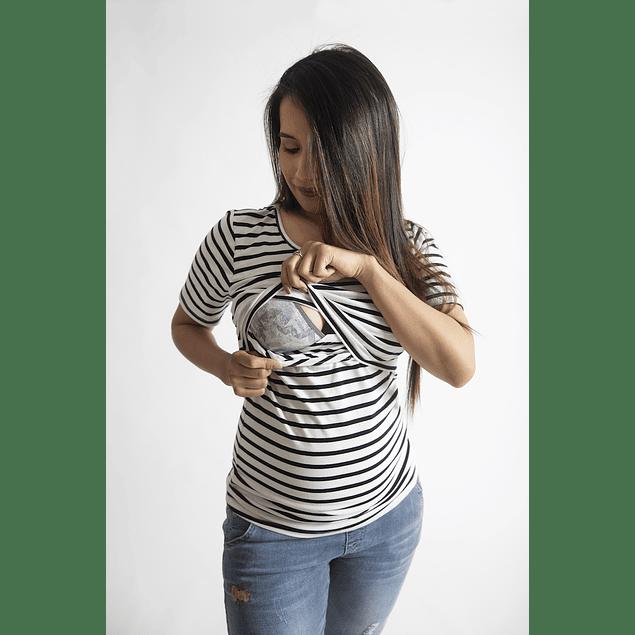 Polera Fran  Embarazo & Lactancia White
