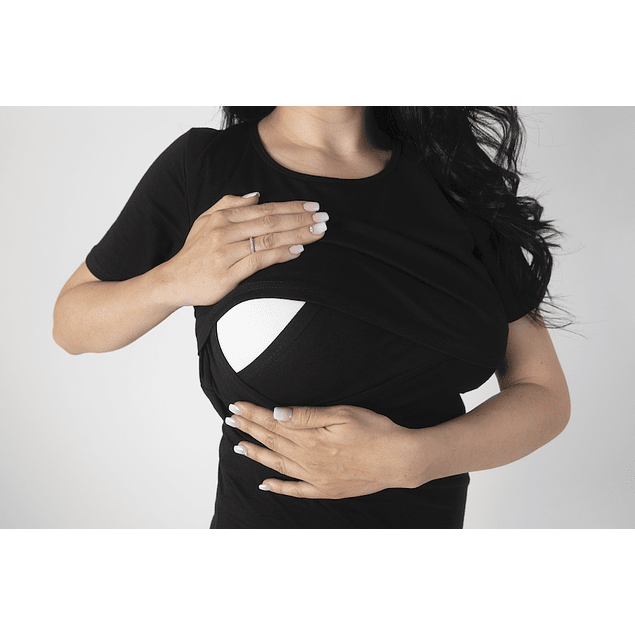 Polera Embarazo & Lactancia Cathy  Black