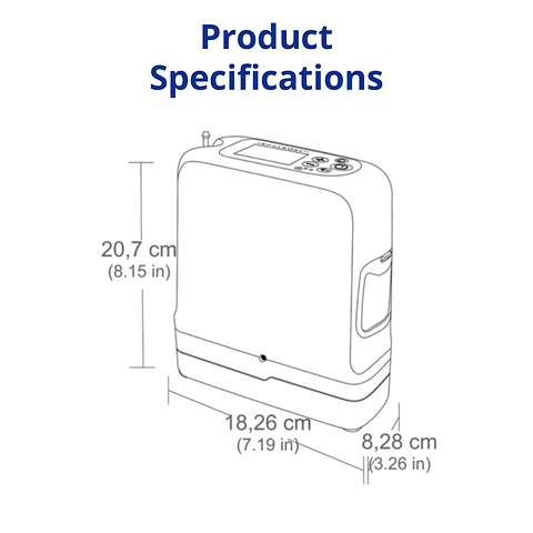 Concentrador de oxigeno portátil Inogen One G5