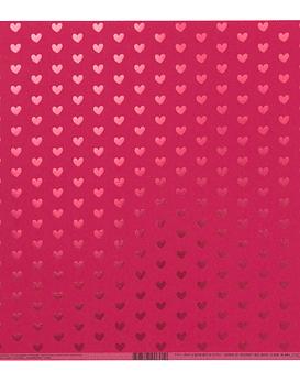 AC Cardstock Peony Heart Foil
