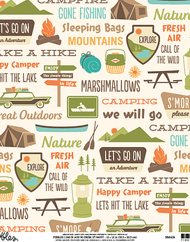 AC Cardstock Camping Signs