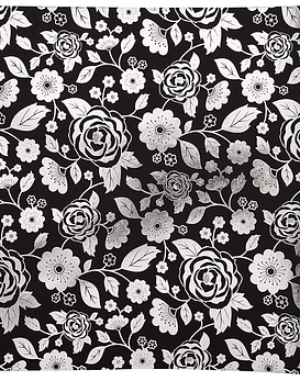 AC Cardstock Foil Flowers