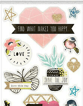 Stickers Dimensionales Share the Joy