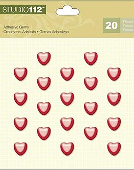 Studio 112 Heart Adhesive Gems