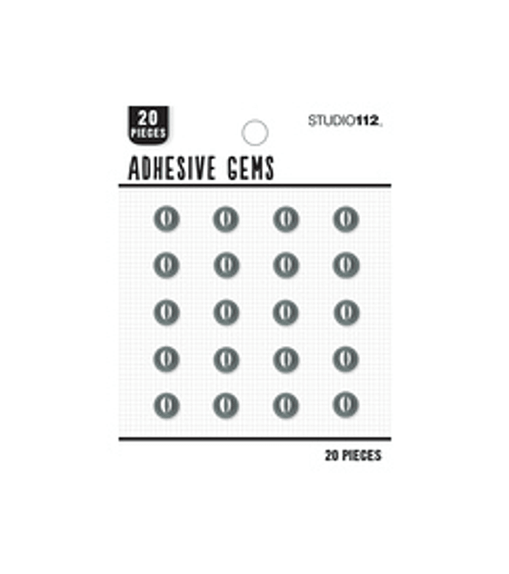 Studio 112 black adhesive gems
