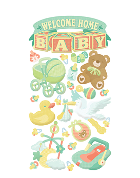 Welcome Home Baby Stickers