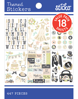 Sticko Stickers de boda (447 piezas)