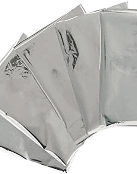 WeR Pliegues de Foil tono plateado