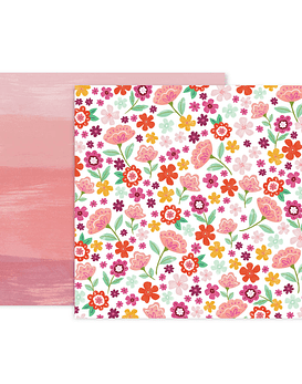 Pink Paislee Truly Grateful Paper