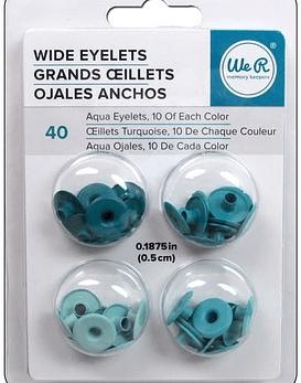 WeR Ojetillos Anchos Tonos  Aqua