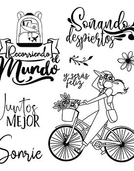 Stamperia timbre Bicicleta