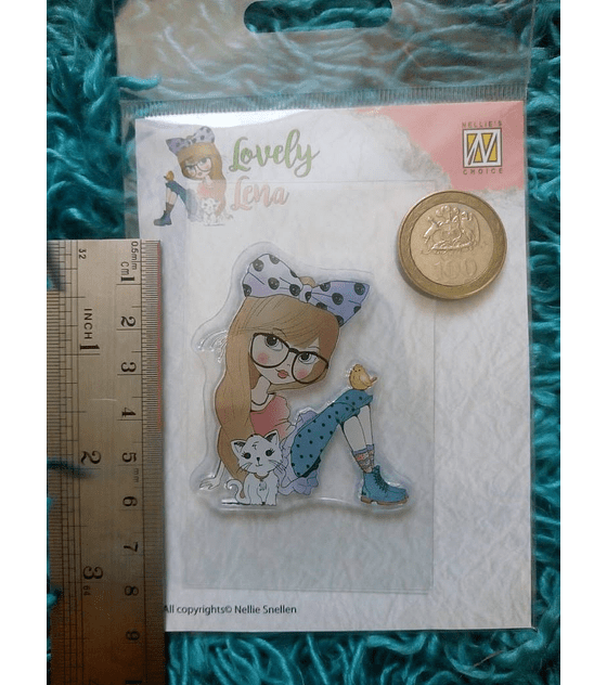 Nellie's Clear Stamps Lovely Lena