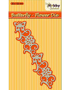 Hobby Solution Butterfly Flower Die