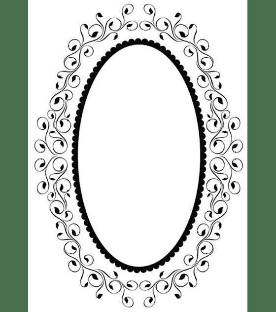 Embossing Folder Oval Frame