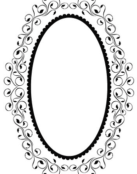 Embossing Folder Oval Frame