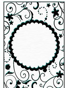 Embossing Folder Circle Frame