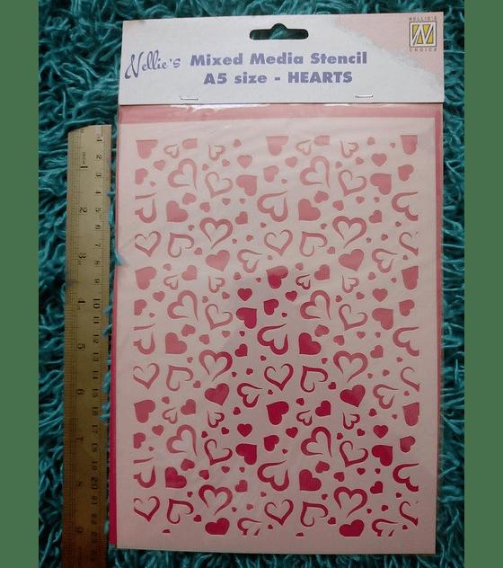 Stencil  A5 Corazones