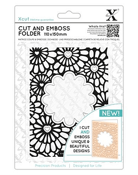 XCut Cut and Emboss Hearts and Flowers