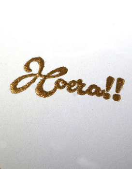Polvo de Embossing Gold Metallic