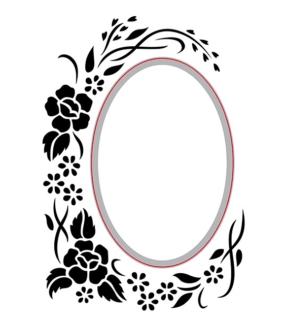 Cut and Emboss Oval Floral