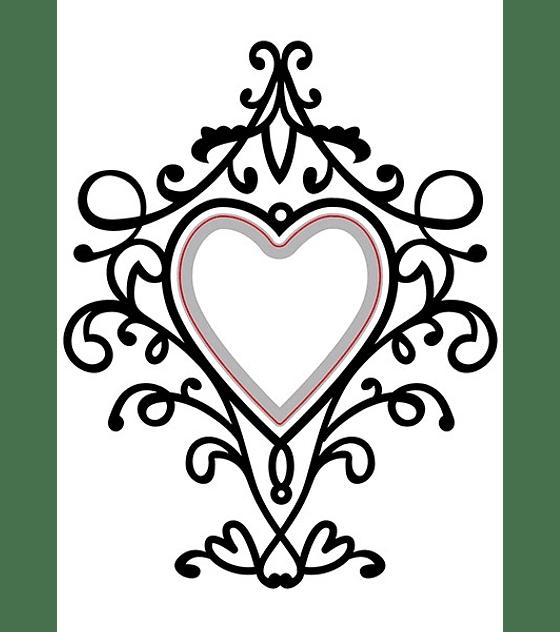 Cut and Emboss Heart Swirls