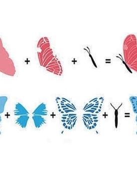 Timbre 3D Mariposas