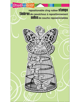 Stampendous Cling Butterfly Aviary