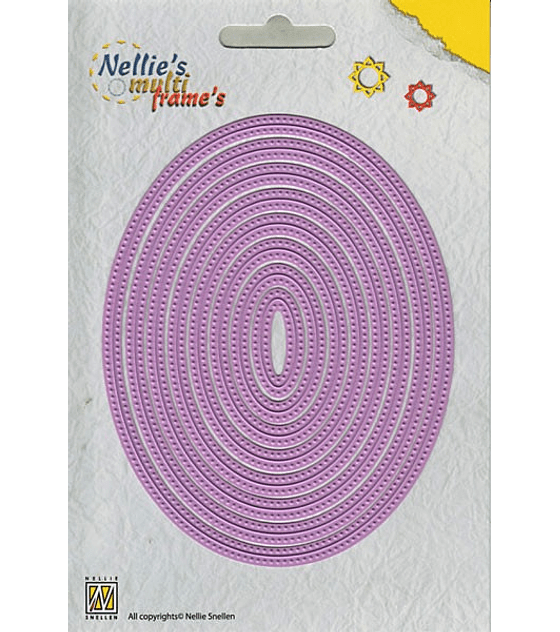 Nellie's MFD straight dotted oval