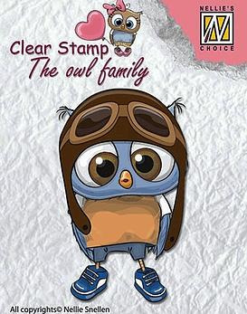Timbre Owl Family Aviador