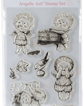 Ultimate Crafts Angelic Stamp Set