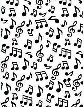 HS Embossing Folder Musical Notes